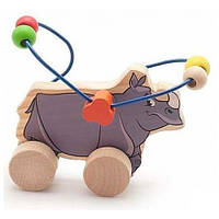 Лабиринт-каталка Носорог, Мир деревянных игрушек