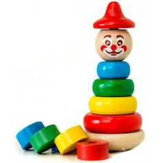 Пирамидка Клоун, Мир деревянных игрушек