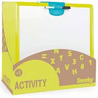 Двухсторонняя доска для рисования (желтая), Smoby Toys