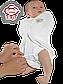 "Пеленка-кокон  ""Крепкий сон 5"" Summer+ ""Eko-Cotton"", белая с рисунком, с рукавом, , Ontario Baby, фото 2"