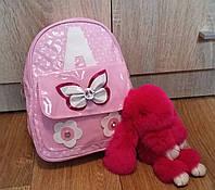 Детский мини-рюкзачок для девочки из эко кожи Бабочка, детские рюкзачки оптом