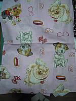 Детский комплект постельного белья полуторный Собачки