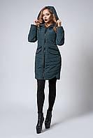Женское демисезонное пальто полуприталенного силуэта размер 42