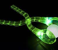 Снежколеп кристалл зеленый светящийся 35см, фото 1