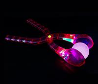 Снежколеп кристалл малиновый светящийся 35см, фото 1