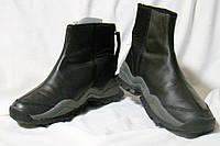 Сапоги мужские демисезонные полусапожки кожаные черные Acupunture (размер 40)