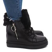 Тёплые ботинки на толстой подошве