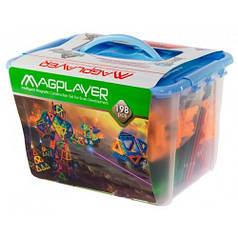 Детский магнитный конструктор 198 деталей, MagPlayer MPT-198