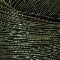 Шнур Вощеный Хлопковый, Цвет: Оливковый, Размер: Толщина 0.7мм, около 80м/связка, (УТ100009711)