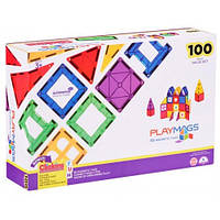 Магнитный конструктор 100 деталей, Playmags