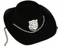 Шляпа Шерифа пластик флок