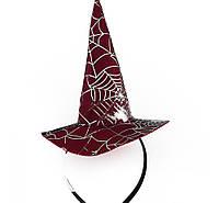 Шляпка на ободке Ведьмочки с паутиной