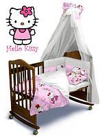 """Постельный к-т с балдахином """"Hello Kitty"""", Classic, Евроборт 180х40, Ontario Baby"""