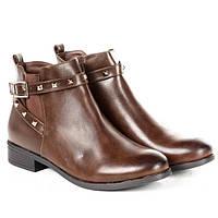 Стильные демисезонные ботинки коричневого цвета