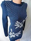 Молодежные вязанные платья недорогие., фото 4