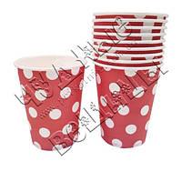 Бумажные стаканчики Розовые в горошек(уп.10шт)