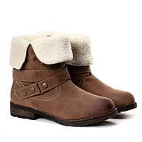 Женские ботинки зимние с отворотом размеры 36,38-40