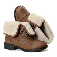 Польша.Красивые зимние женские ботинки.