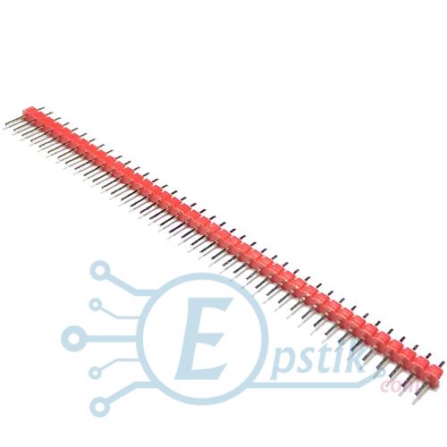 PLS-40, штырьевые соеденители, Красный, 40pin, 2.54мм.