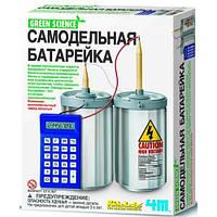 Жестяной калькулятор, самодельная батарейка, 4М