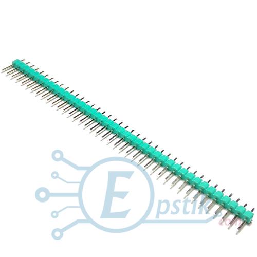PLS-40, штырьевые соеденители, Зеленый, 40pin, 2.54мм.
