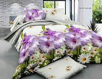 Комплект постельного белья полуторный цветы 3д
