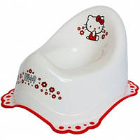 Горшок Hello Kitty c нескользящими резинками белый, Maltex