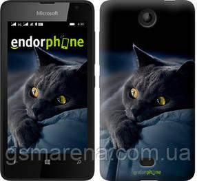 """Чехол на Microsoft Lumia 430 Дымчатый кот """"825u-153-7794"""""""