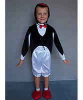 Детский карнавальный костюм для мальчика Пингвин черно-белый от 3 до 7 лет