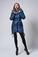 Стеганная женская зимняя куртка с удлиненными уголками по краям размеры:М, XL.