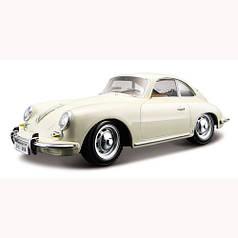 Автомодель - PORSCHE 356B (1961) (ассорти слоновая кость, красный, 1:24) 18-22079