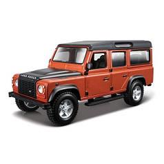 Автомодель - LAND ROVER DEFENDER 110 (ассорти белый, оранжевый металлик 1:32) 18-43029