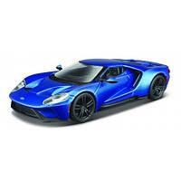 Автомодель - FORD GT (голубой металлик, серебристый металлик, 1:32) 18-43043
