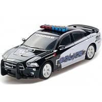 Автомодель - DODGE CHARGER POLICE 2014 (черный,1:26, свет, звук, инерц.)