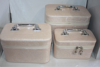 Шкатулка, органайзер для косметики, набор 3 шт.