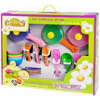 Набор игрушечной посуды столовый Ромашка (43 эл.), Тигрес