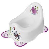 Горшок для ребенка со спинкой Hippo white Keeeper