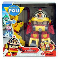 Рой трансформер в костюме супер пожарного (15 см), Robocar Poli