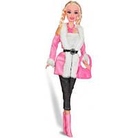 Городской стиль, набор с куклой 28 см., блондинка с косичками, Ася