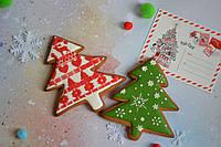 Пряник имбирно-медовый новогодний - Ёлочка, фото 1