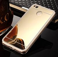 Зеркальный золотистый силиконовый чехол для Xiaomi Redmi 4X