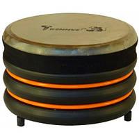 Барабан из натуральной кожи (18 × 28 см), оранжевый, Trommus
