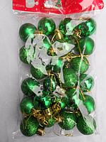 Новогодние елочные шары ( 3 см. 24 шт. упаковка ), фото 1