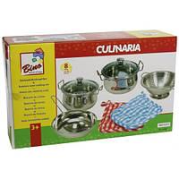 Набор нержавеющей посуды из 8 предметов, Bino