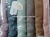 Набор полотенец  Blue Soft 70*140 TWO DOLPHINS 6 шт./уп., Турция 057