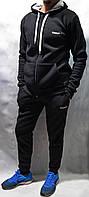 Зимний спортивный костюм Reebok с капюшоном - чёрный