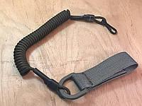 Шнур витой страховочный с быстросъемным поясным креплением и карабином (олива)