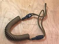 Шнур витой страховочный с универсальными мягкими петлями (койот)