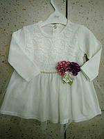 Детское  красивое теплое платье для девочки 80,92