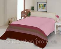 Плед Le Vele полутороспальный нежно-розовый